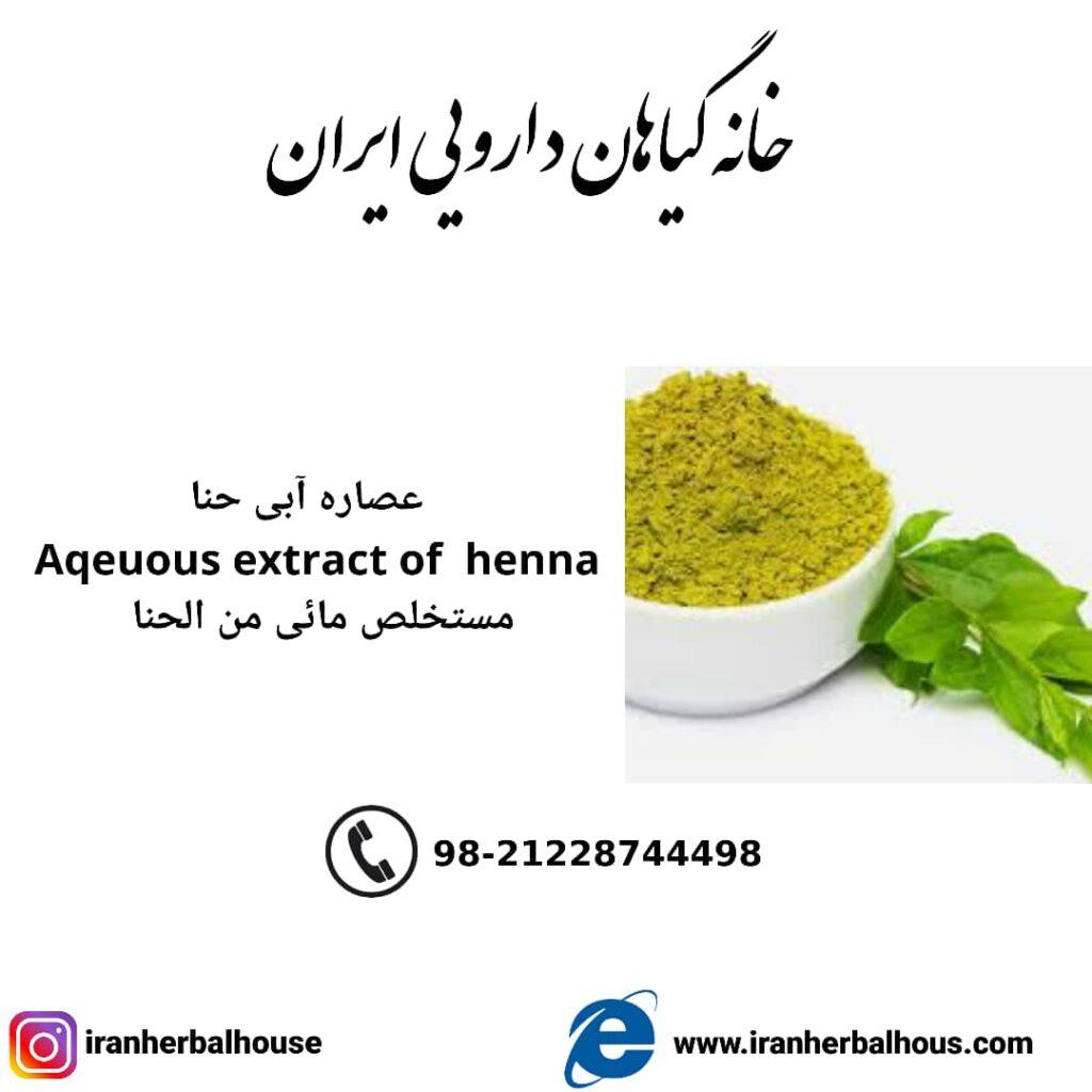 Aqeuous Extract of henna