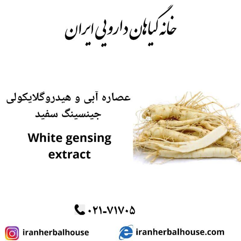 white gensing extract