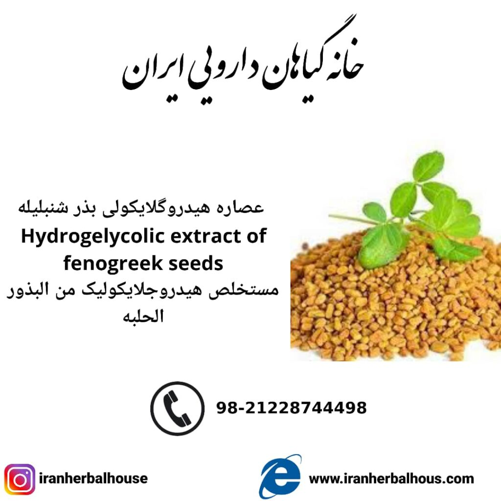 Hydrogelycolic Extract of fenogreek seeds