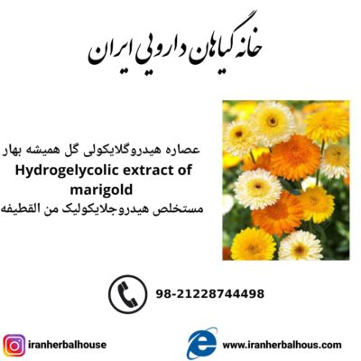 Hydrogelycolic Extract of marigold